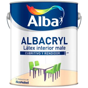 Latex Interior Albacryl Mate Neutros 17.4 Lts