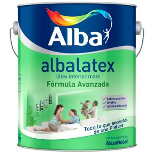 Latex Interior Albalatex Mate Amarillos 8.7 Lts