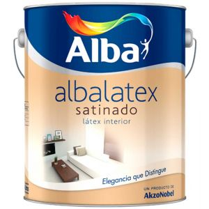 Latex Interior Albalatex Satinado Verdes 8.7 Lts