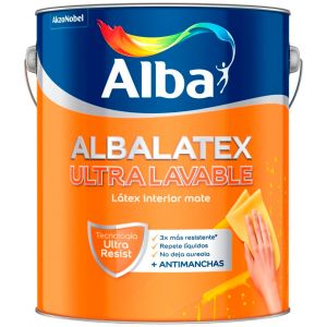 Latex Interior Albalatex Ultralavable Mate Blanco 10 Lts Alba