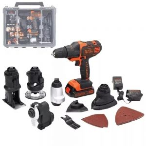 Kit Taladro Inalámbrico Matrix 6 en 1 Black Decker Bdcdm6kitc Multifunción