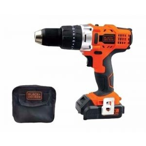 Taladro Inalámbrico Percutor 14.4v Black + Decker Hp14 + Bolso