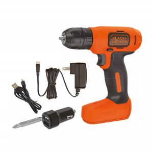 Taladro Inalámbrico Black & Decker 10mm 8v Ion Litio Ld008a