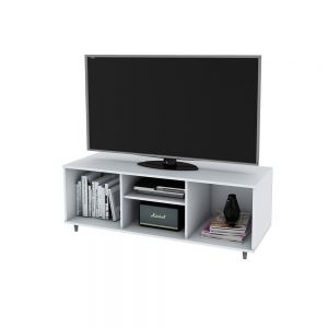 Rack Mesa Para TV Blanco Centro Estant 4000