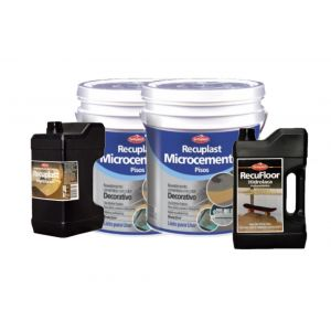Kit Completo Microcemento Recuplast Color  Negro