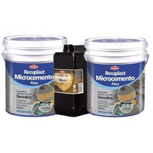 Kit 3 Pasos Microcemento Recuplast Color Negro
