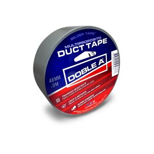 Cinta Duct Tape 48 mm x 9 mts Gris Multipropósito Doble A