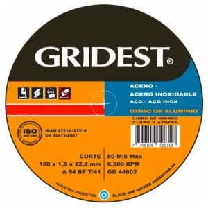Disco Corte OX. de Alum. 180x1.6x22 GD44602 - Gridest