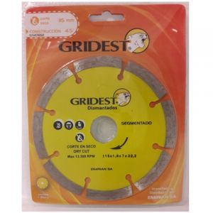 Disco Diamantado Segmentado 115mm GD47452 - Gridest