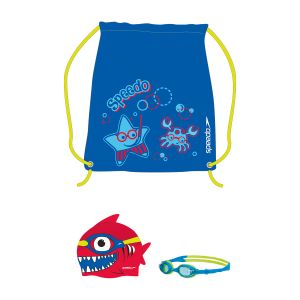 Set Sea Squad Speedo Gorra Antiparra Natacion Junior Celeste