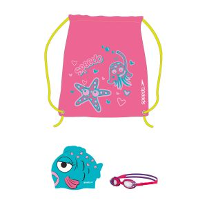 Set Sea Squad Speedo Gorra Antiparra Natacion Junior Rosa