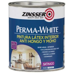 Látex Interior Antihongo Perma White Satinado 3.8 Lts Zinsser