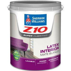 Latex Interior Z10 Mate Blanco 10 Lts Sherwin Williams