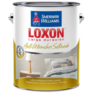 Latex Interior Loxon Antimanchas Satinado Verdes 9 Lts