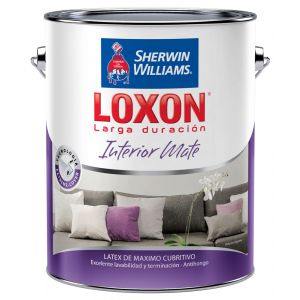 Latex Interior Loxon Mate Blanco 10 Lts Sherwin Williams