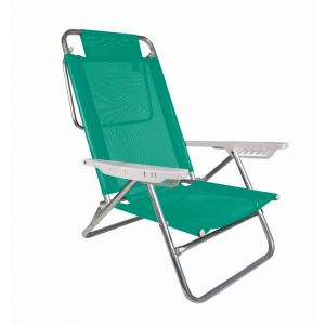 Reposera Silla Summer Aluminio Reclinable Mor Verde