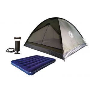 Combo Carpa Iglu Dome 4 Personas + Colchon Inflable
