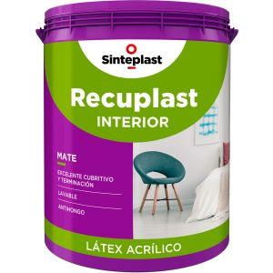 Latex Interior Recuplast Mate Blanco 20 Lts Sinteplast