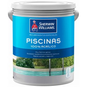 Pintura Piletas Base Acuosa Azul 10 Lts Sherwin Williams