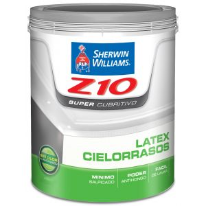 Latex Interior Cielorraso Z10 Supercubritivo Mate Blanco 10 Lts Sherwin Williams