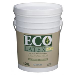 Latex Interior Ecolatex Blanco Mate 20 Lts Tersuave Antihongo Antialga