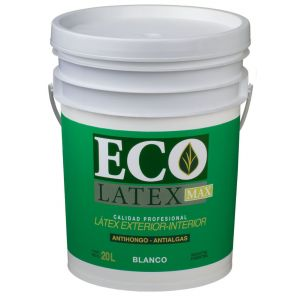 Latex Interior Exterior Ecolatex Blanco Mate 20 Lts Tersuave