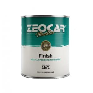 Masilla Plastica Finish 4 kg Zeocar Con Endurecedor
