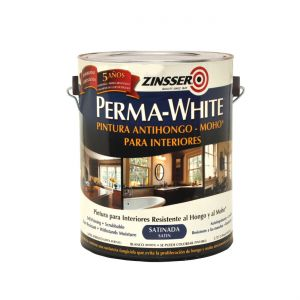 Látex Interior Antihongo Satinado Perma White Zinsser 0.9 Lt